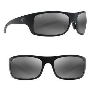 { Maui Jim } Big Wave Polarized Wrap Sunglasses